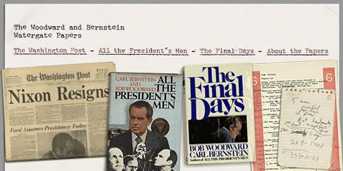 The Woodward and Bernstein Watergate Papers